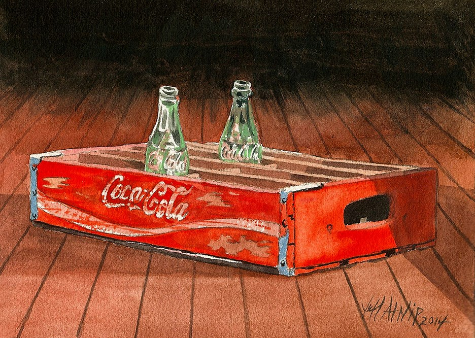 """Vintage Coke Crate"" original fine art by Jeff Atnip"
