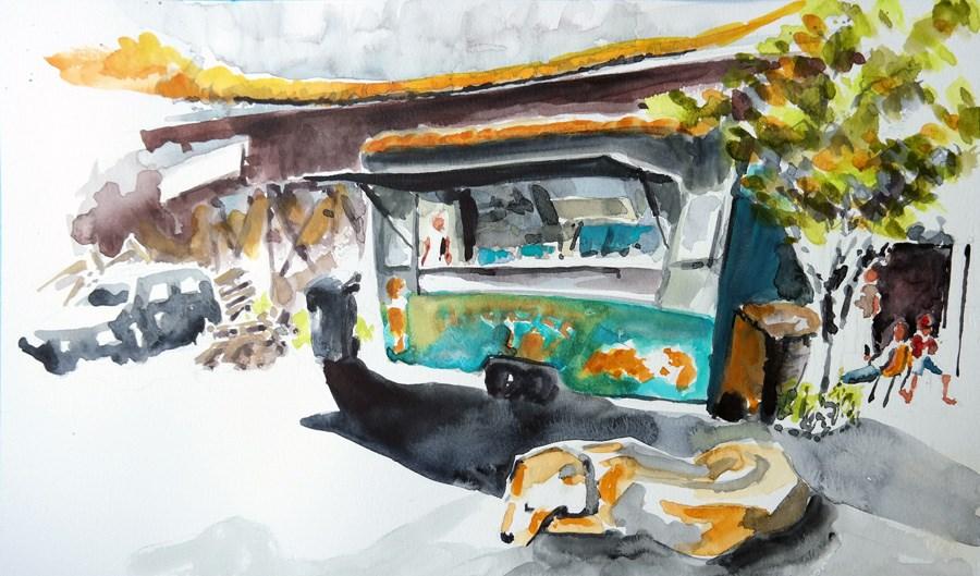 """""""1418 Sunday Sketches 7"""" original fine art by Dietmar Stiller"""