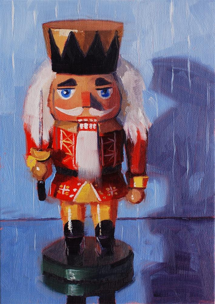 """Suzy's Nutcrackers No. 3"" original fine art by Susan McManamen"