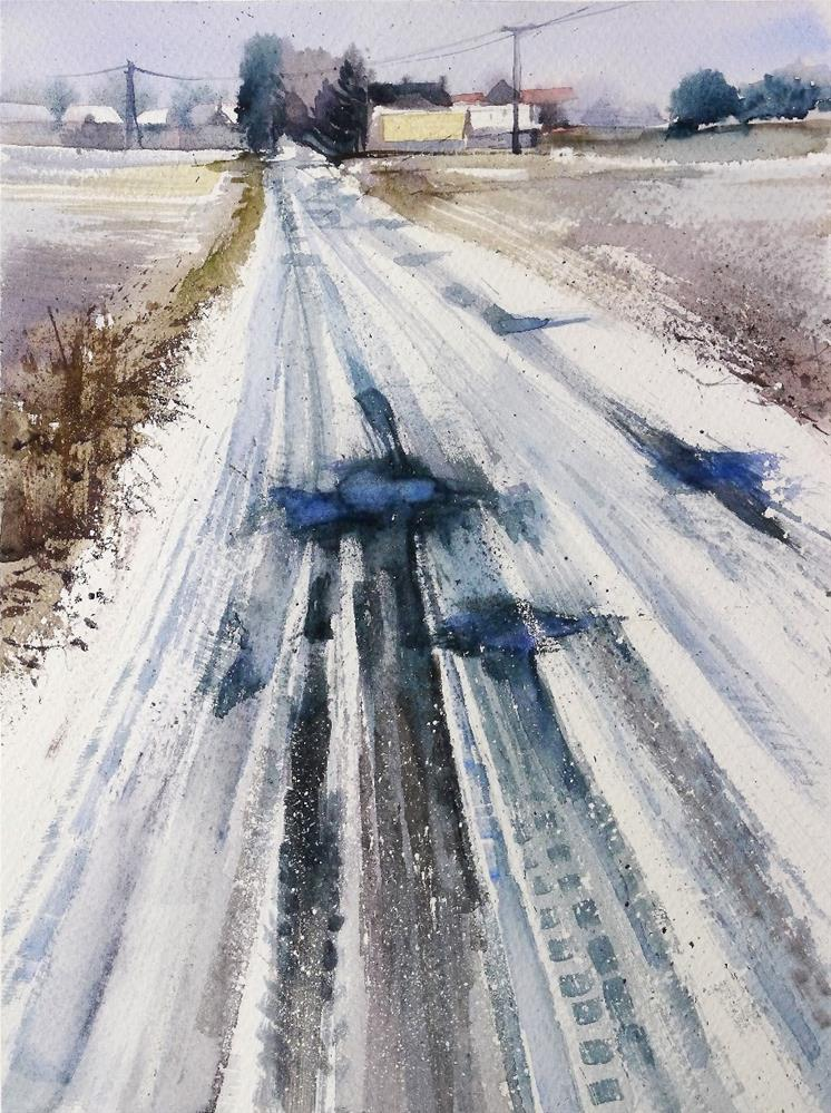 """marks"" original fine art by Beata Musial-Tomaszewska"