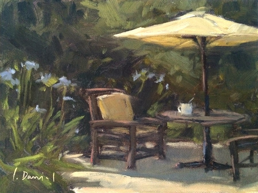 """Tea Time"" original fine art by Laurel Daniel"