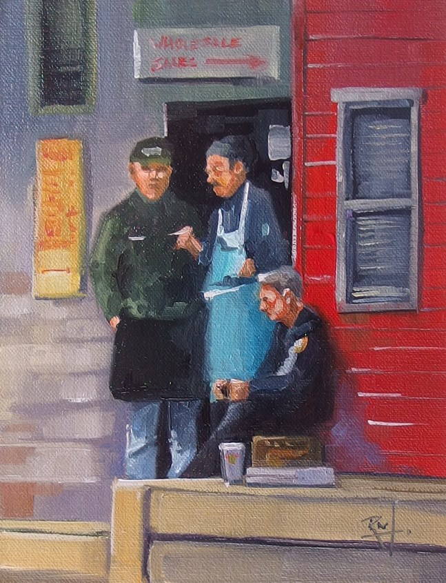 """No 814 Lunch Break"" original fine art by Robin J Mitchell"