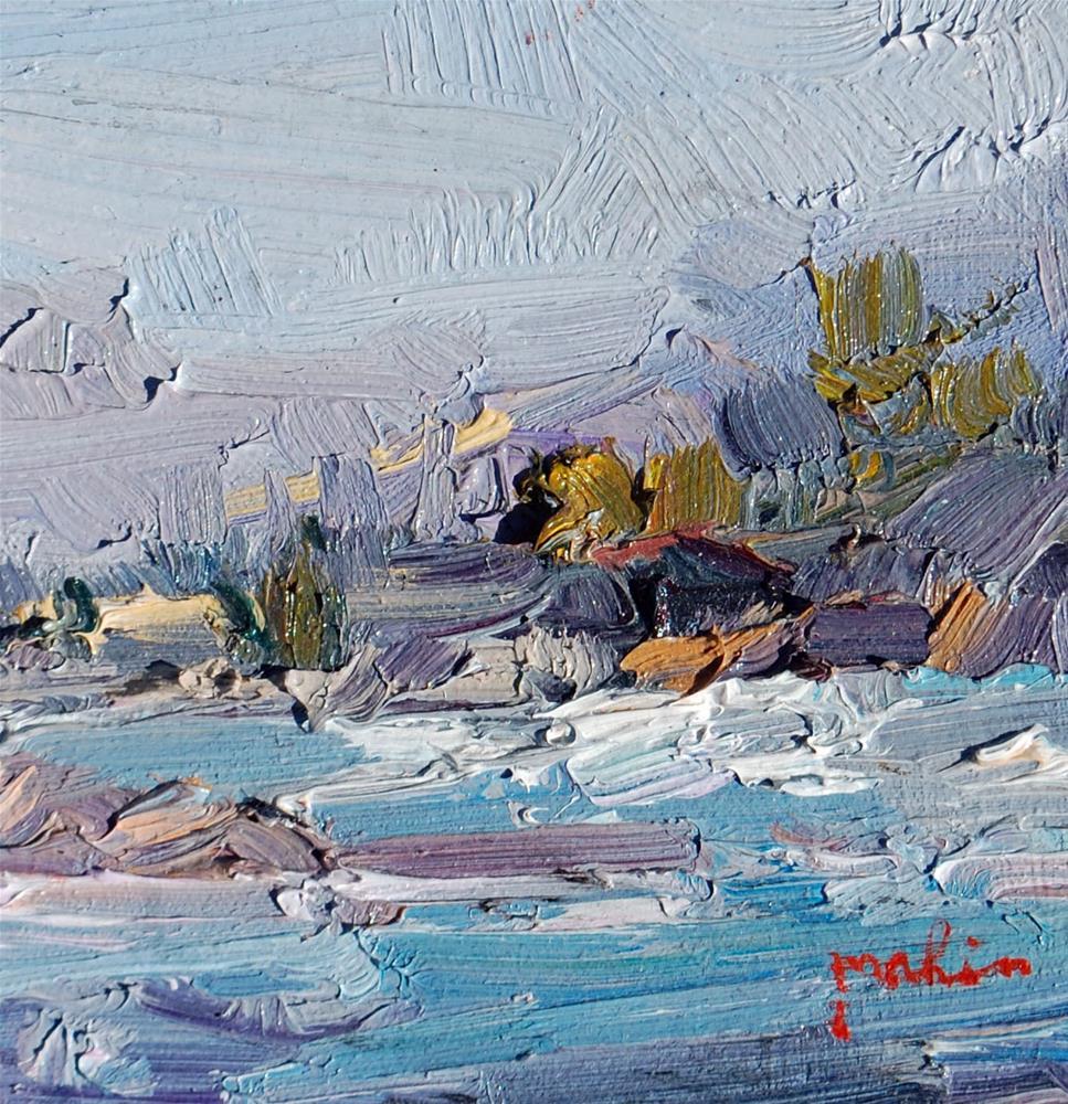 """Beach Study"" original fine art by Mahin Gholizadeh"