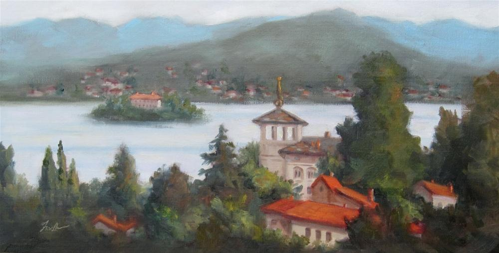 """Lake Orta, Italy"" original fine art by Pat Fiorello"