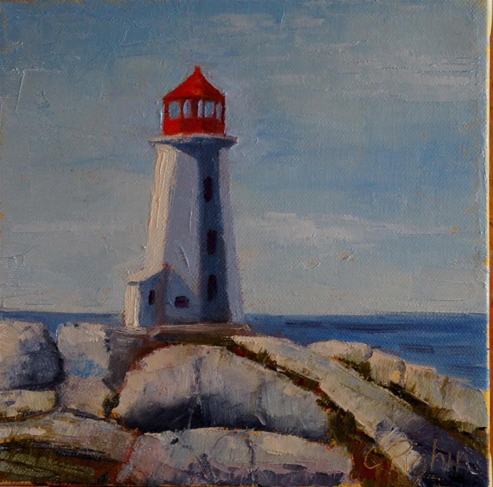 """Peggy's Cove Lighthouse"" original fine art by Carol Pighin"