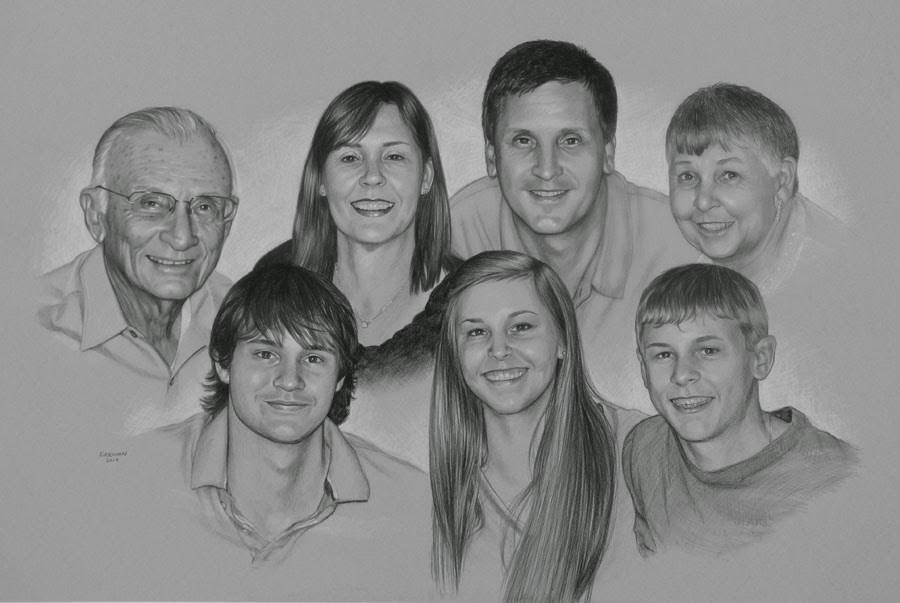 """""""A Family Portrait Commission"""" original fine art by Rita Kirkman"""