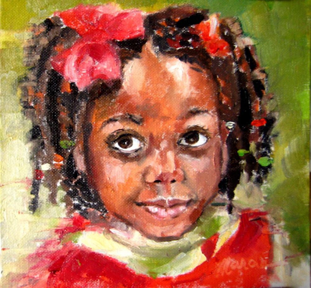 """OnyeOma"" original fine art by Marcia Hodges"