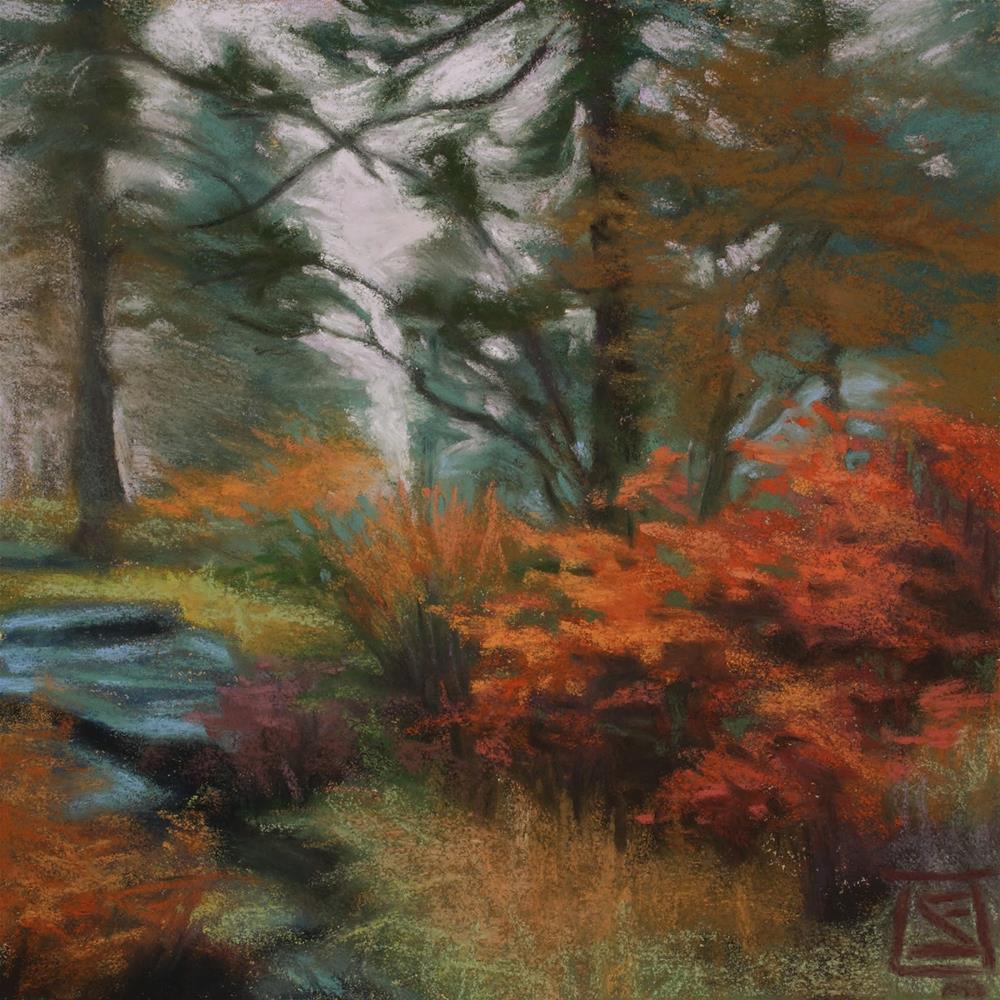 """Frost & Fog Study 5"" original fine art by Sheila Evans"