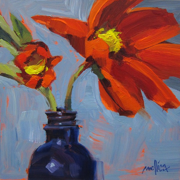 """Red Cosmo"" original fine art by Patti Mollica"