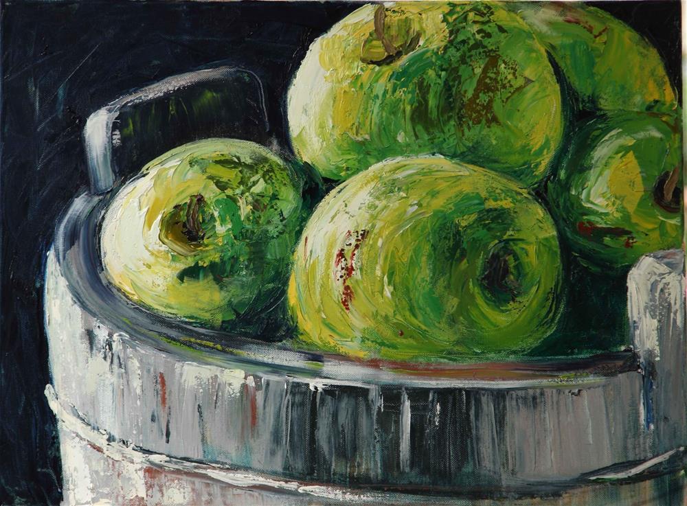 """""""Juicy apples"""" original fine art by Ronel Alberts"""