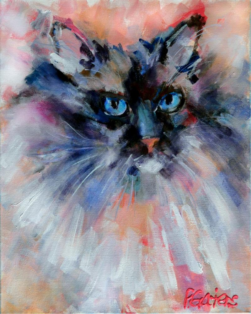 """Himalayan Blue"" original fine art by Pamela Gatens"