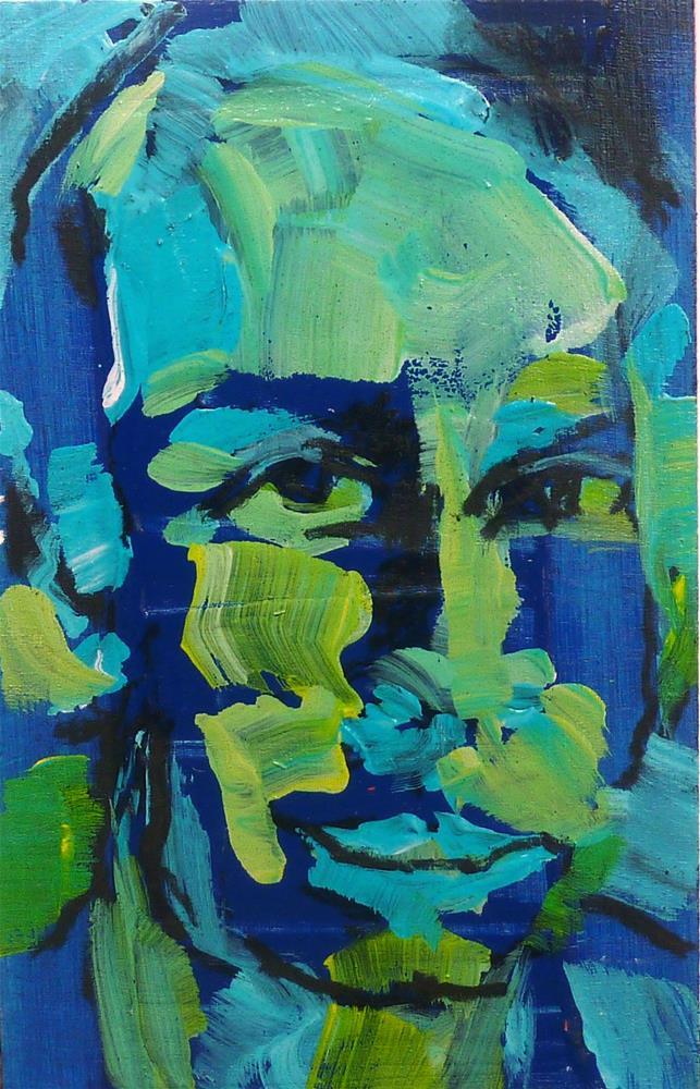 """Expressives Portrait"" original fine art by Mila Plaickner"