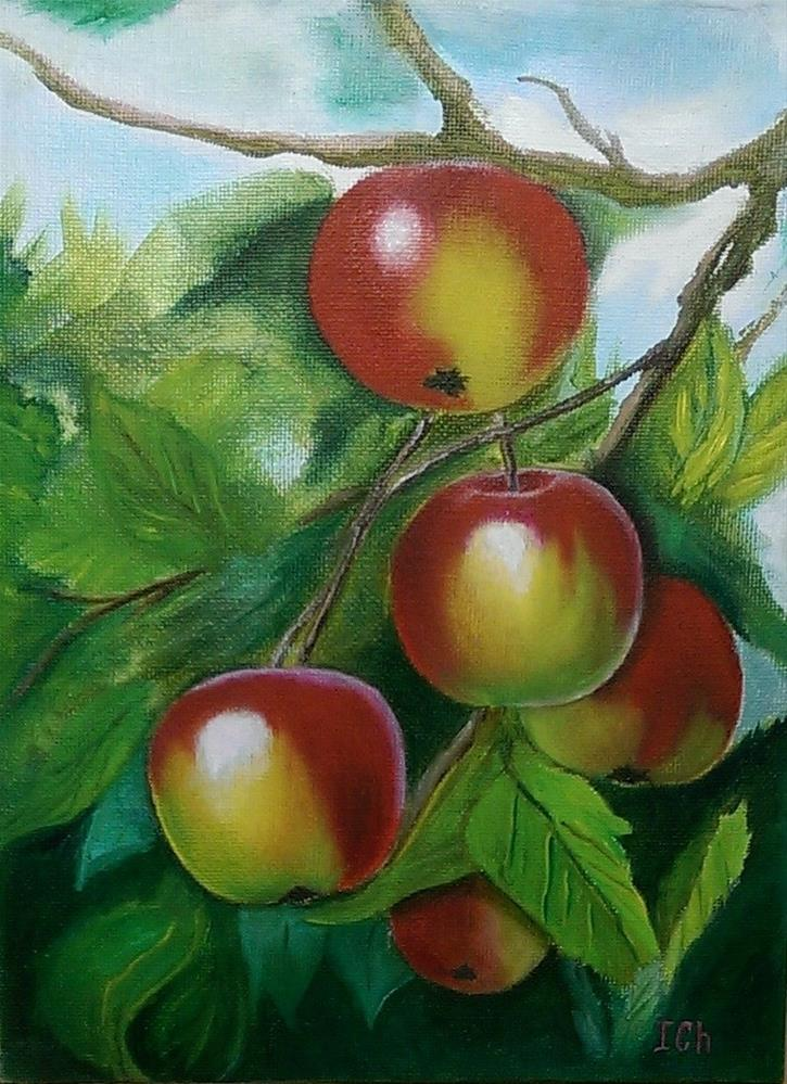 """Apples"" original fine art by Irina Chekhovtsova"