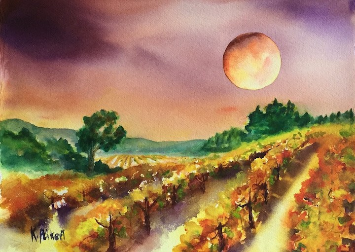 """Super Moon Visit"" original fine art by Karen Peikert"