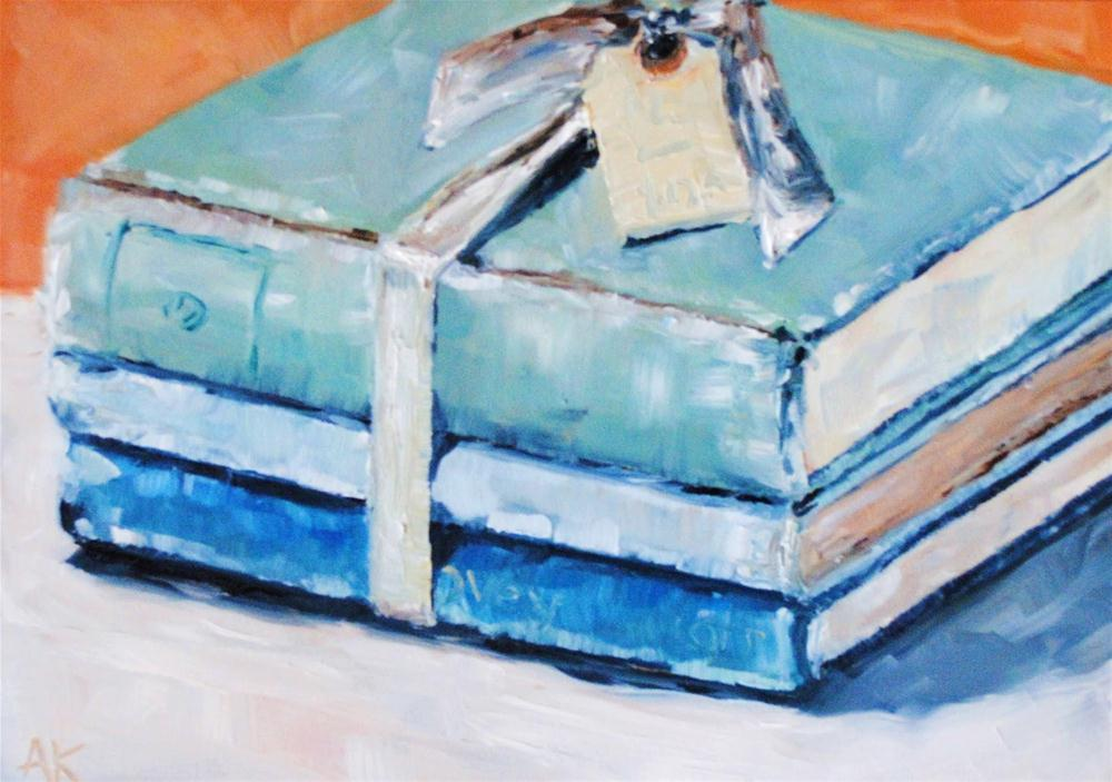 """The Blue Books"" original fine art by Alison Kolkebeck"