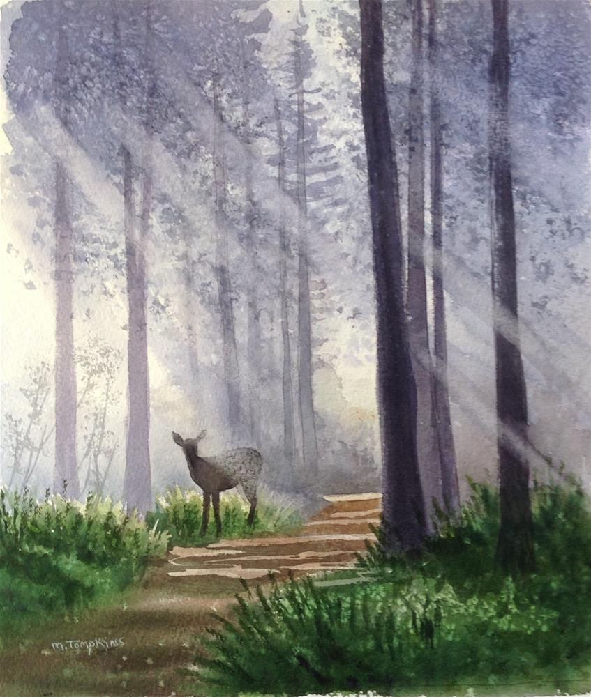 """Forrest Light"" original fine art by Mark Tompkins"