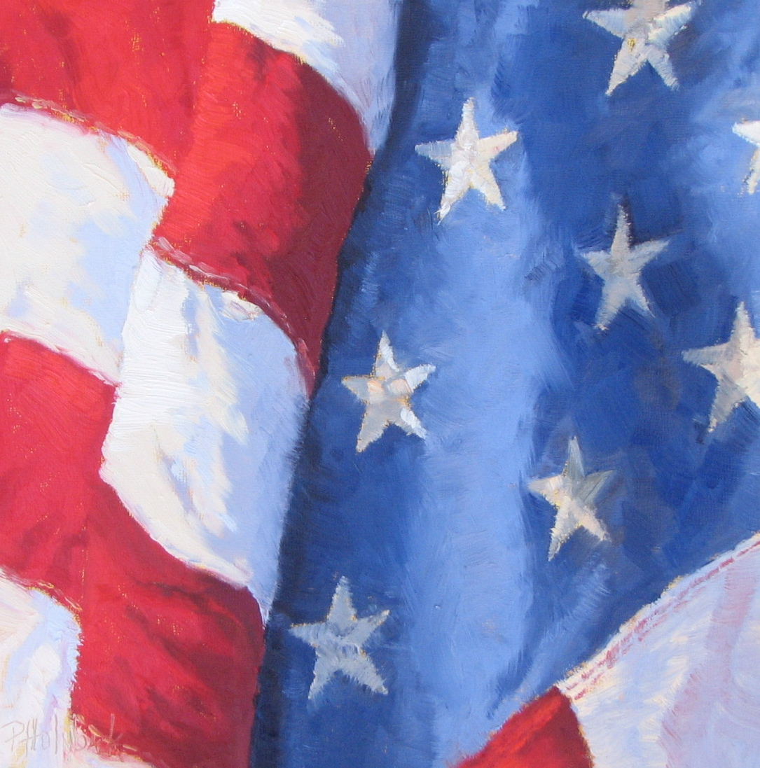 """Grand Old Flag"" original fine art by Pam Holnback"