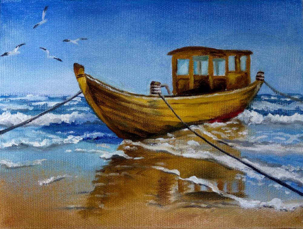 """Resting in the Sun"" original fine art by Laura B."