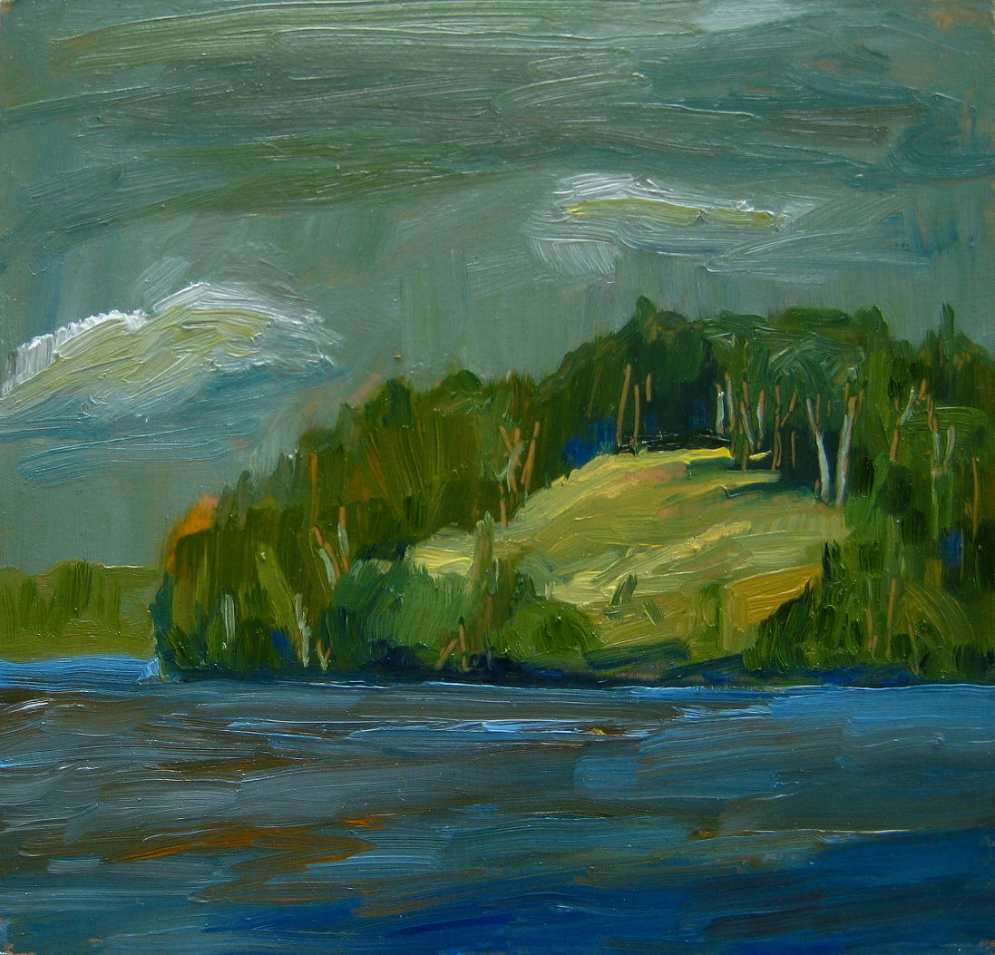 """Moody And Blue"" original fine art by Nicki Ault"