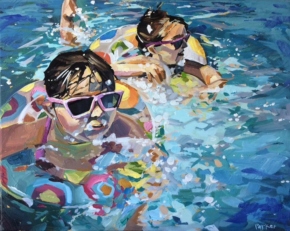 """Swim With Me"" original fine art by Teddi Parker"