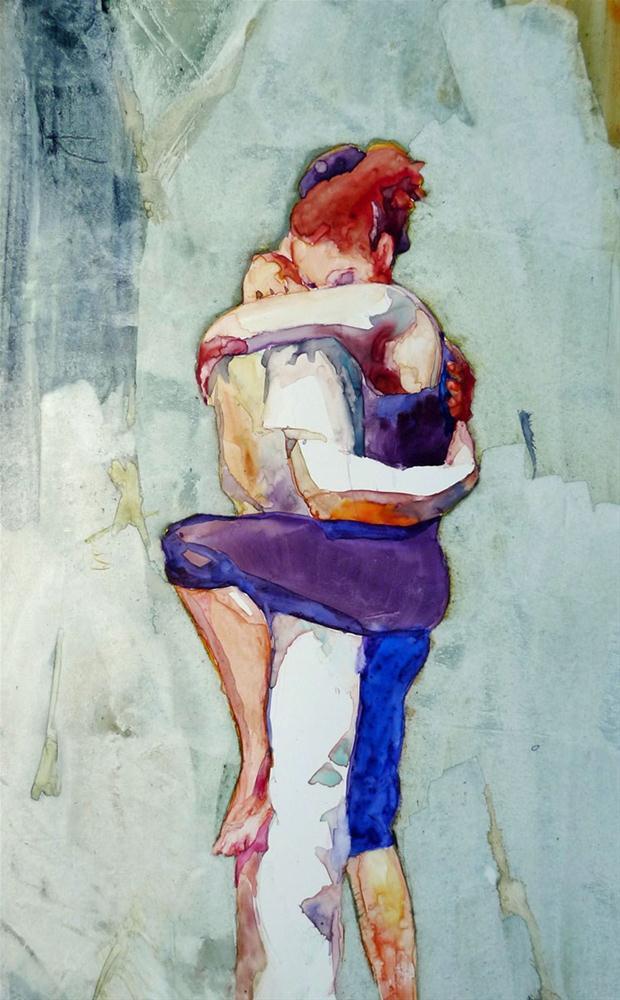 """""""Pierrot Lunaire- The Lovers"""" original fine art by Myriam Kin-Yee"""