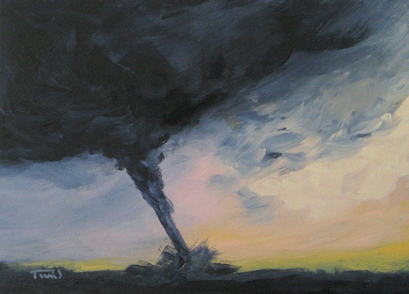 """Tornado IV"" original fine art by Torrie Smiley"