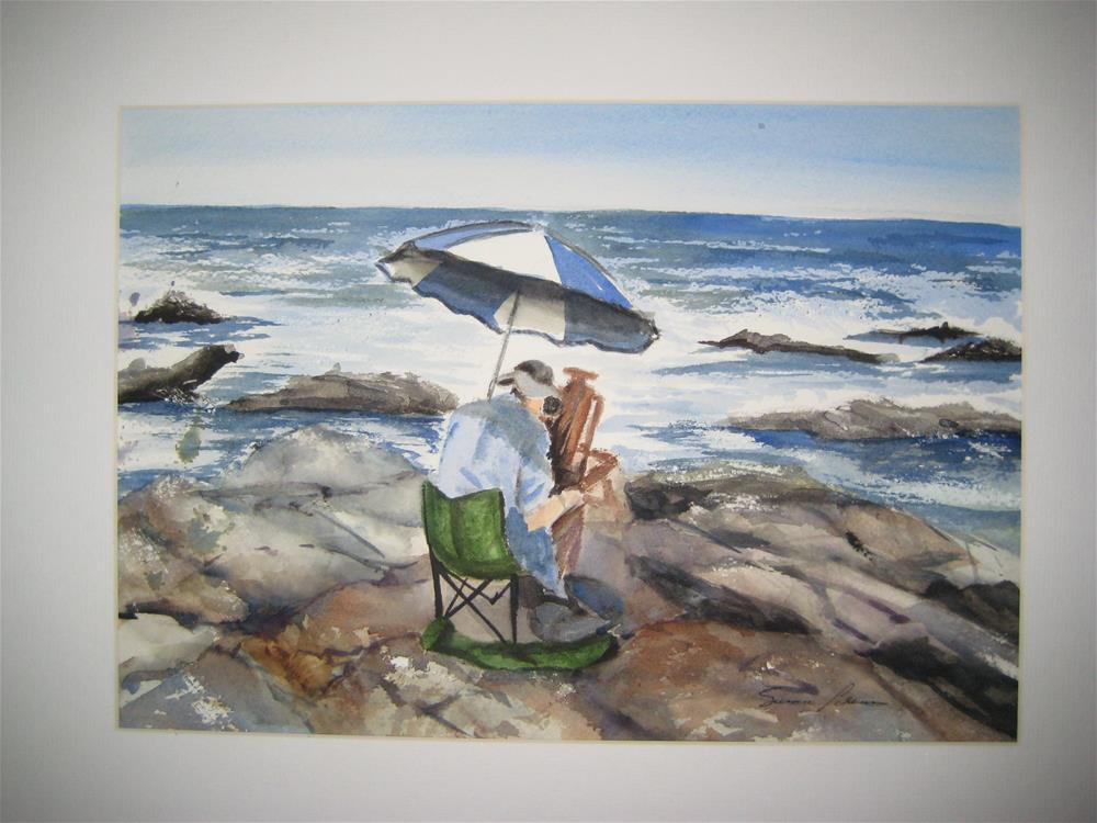 """Plein Air Painter"" original fine art by Susan Brens"