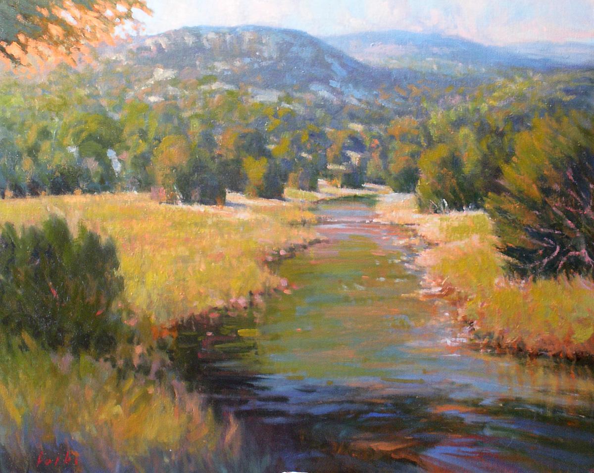 """Peaceful Morning"" original fine art by David Forks"