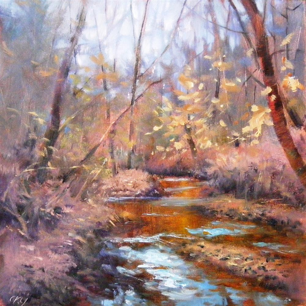 """Winter Creek"" original fine art by Celine K.  Yong"