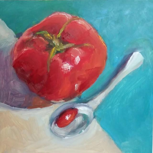 """Tasty Tomato"" original fine art by Wendy Starita"