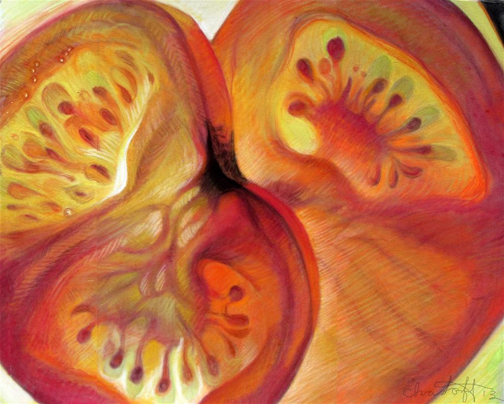 """Tomato"" original fine art by emily Christoff-Flowers"