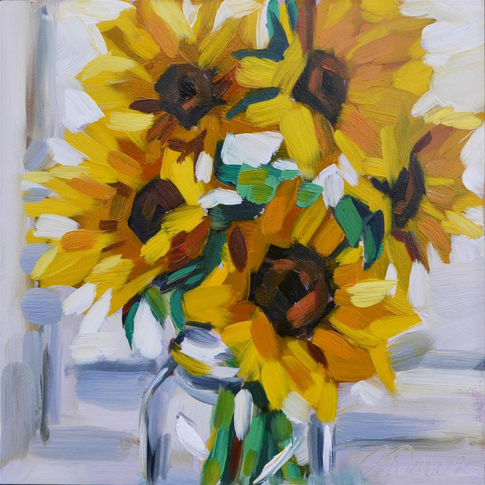 """Sunflower Study"" original fine art by April Dawes"