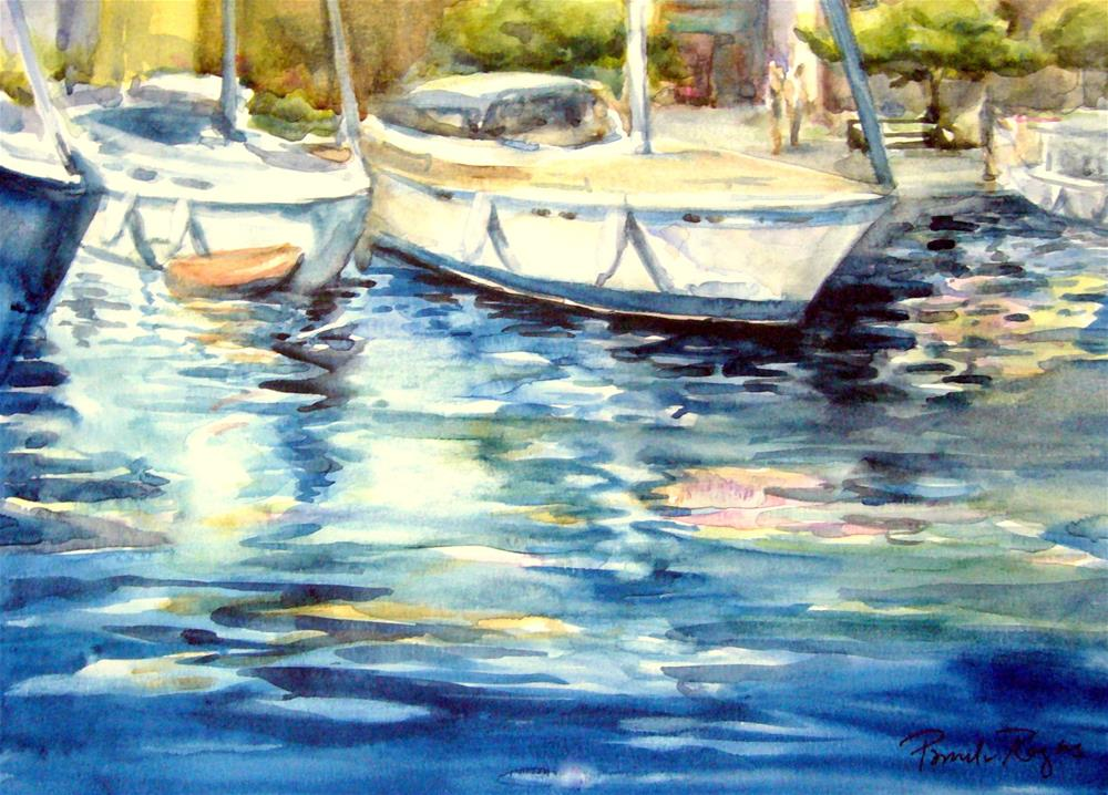 """Sailing the Aegean"" original fine art by Pamela Jane Rogers"