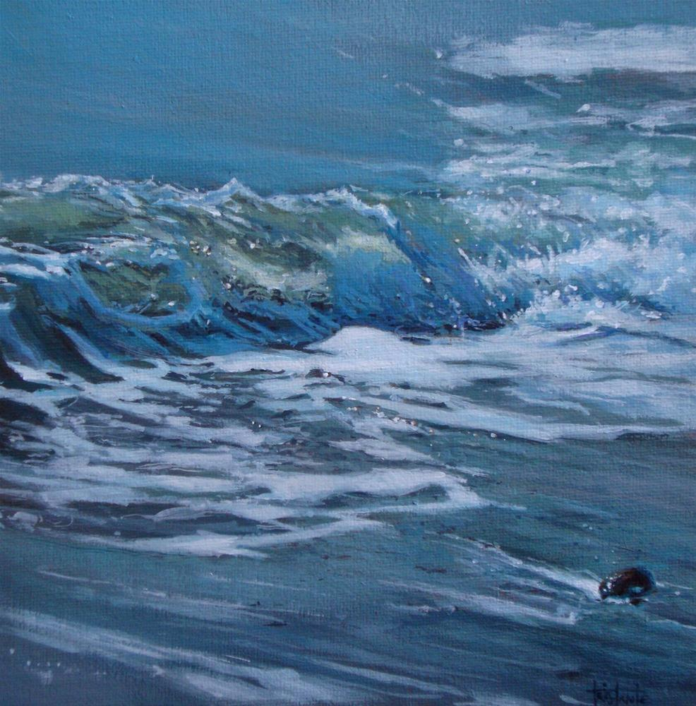 """Breaking the waves"" original fine art by Víctor Tristante"