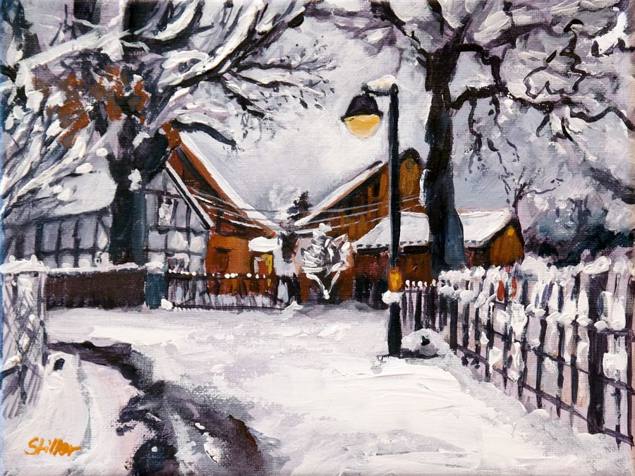 """1616 Snow Romance"" original fine art by Dietmar Stiller"