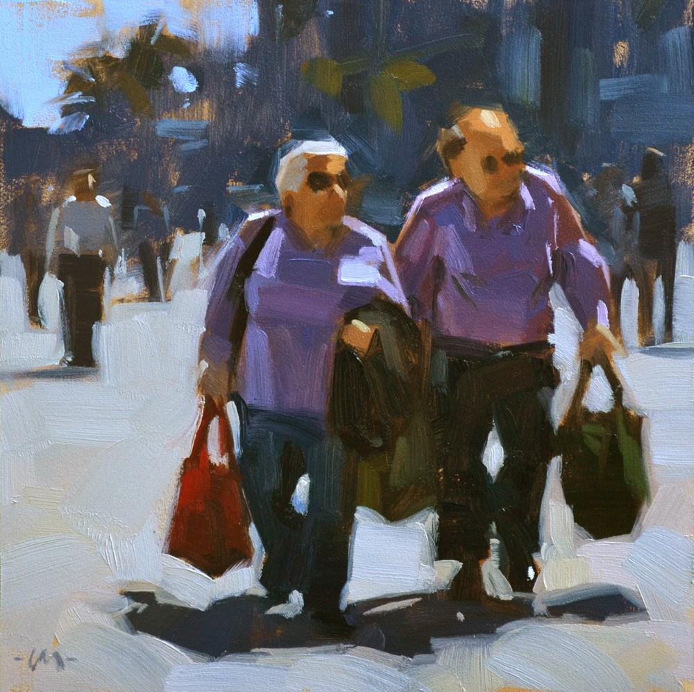 """The Purples"" original fine art by Carol Marine"