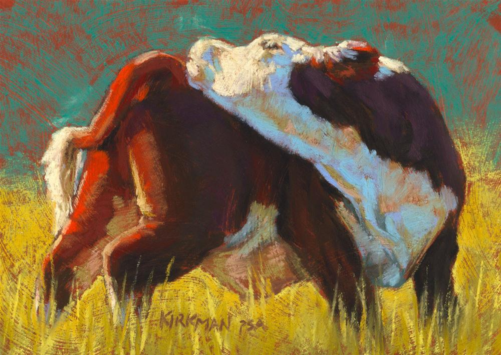 """Calf Stretch"" original fine art by Rita Kirkman"