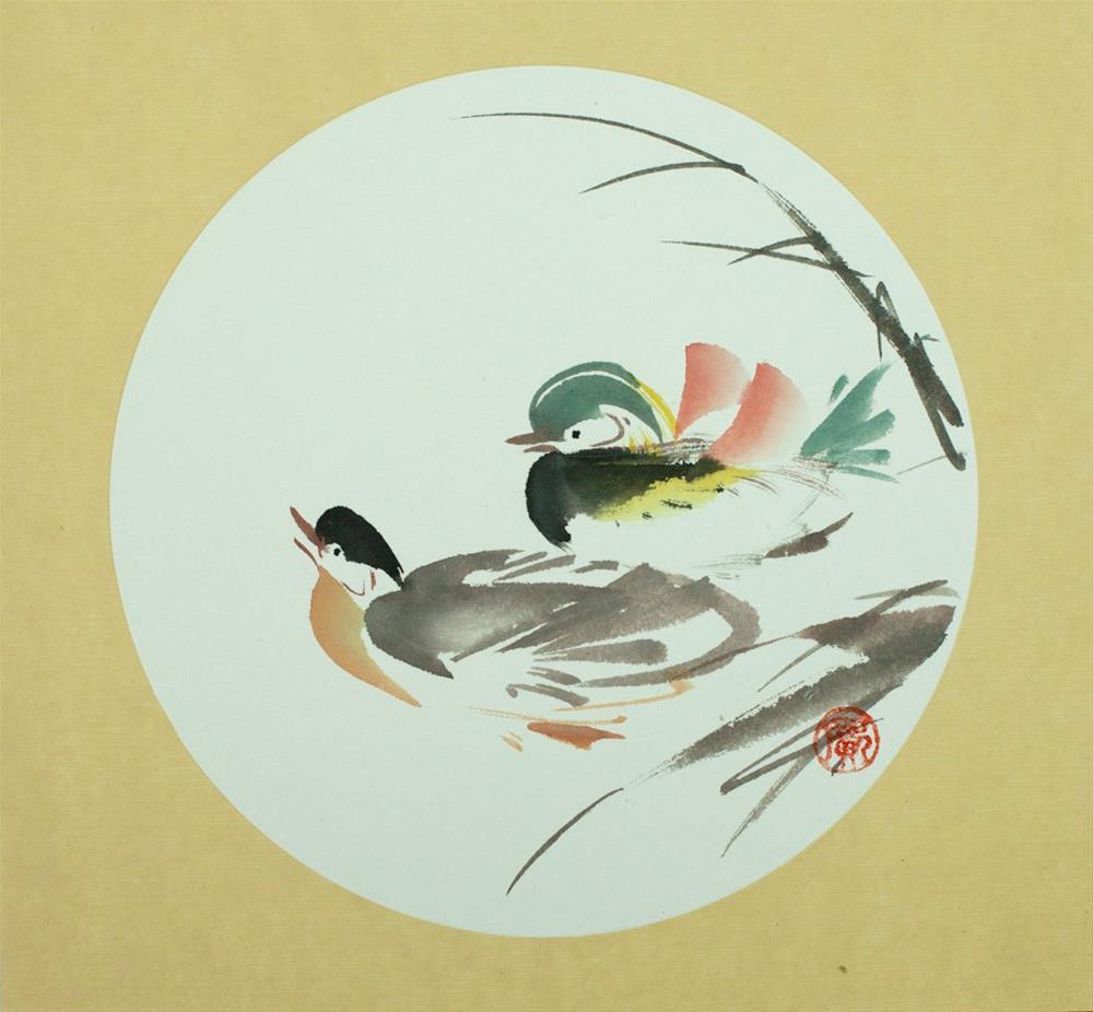 """""""yuān yānɡ"""" original fine art by R kwong"""