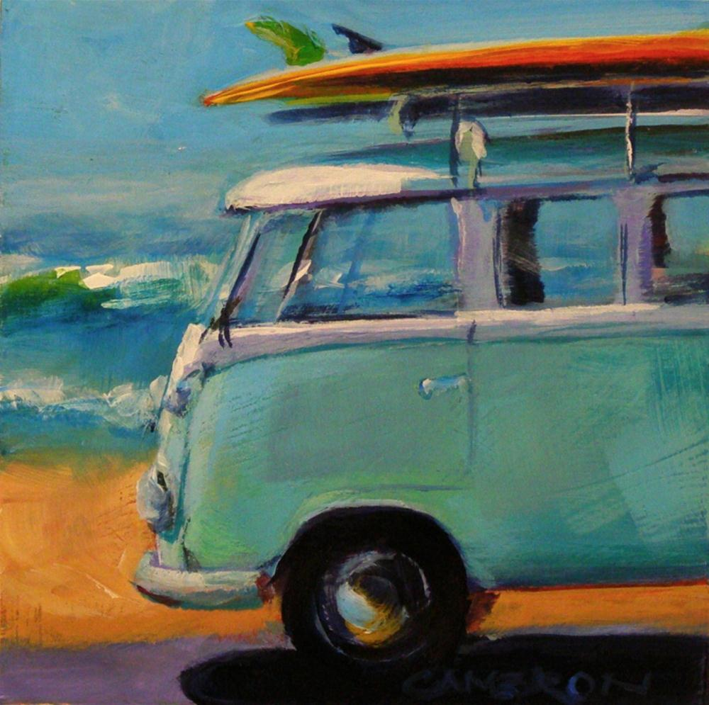 """SURFIN' SAFARI"" original fine art by Brian Cameron"
