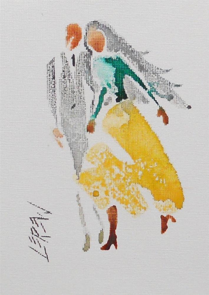 """Serendipity Blot Figure Sketch #13-10-02"" original fine art by Larry Lerew"