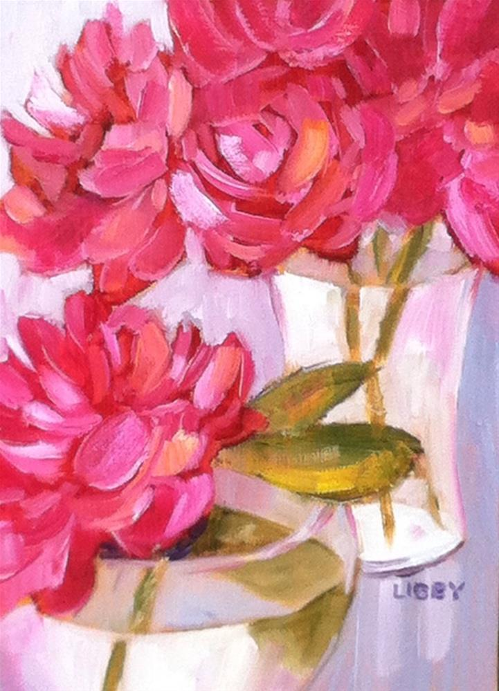 """Peony Dance"" original fine art by Libby Anderson"