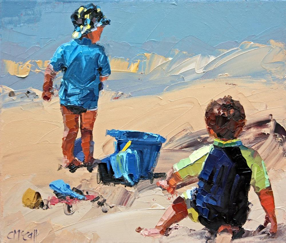 """Sand Play Petite II"" original fine art by Claire McCall"
