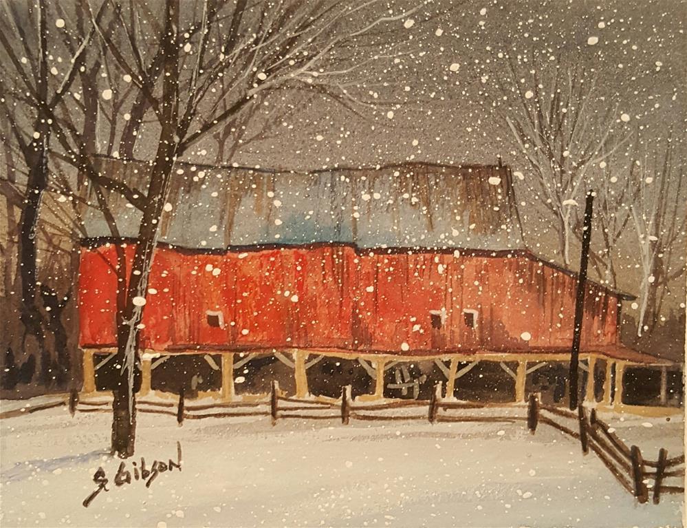 """Bruce MacFarland Farm"" original fine art by Steve Gibson"