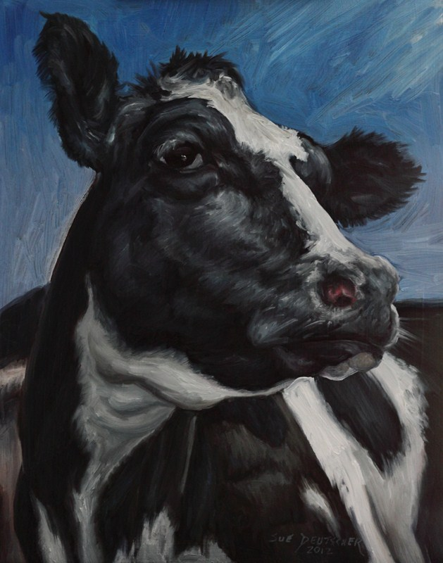 """""""Holstein Face"""" original fine art by Sue Deutscher"""
