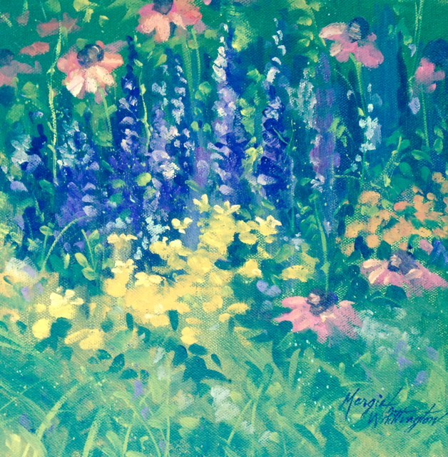 """A Hidden Garden"" original fine art by Margie Whittington"