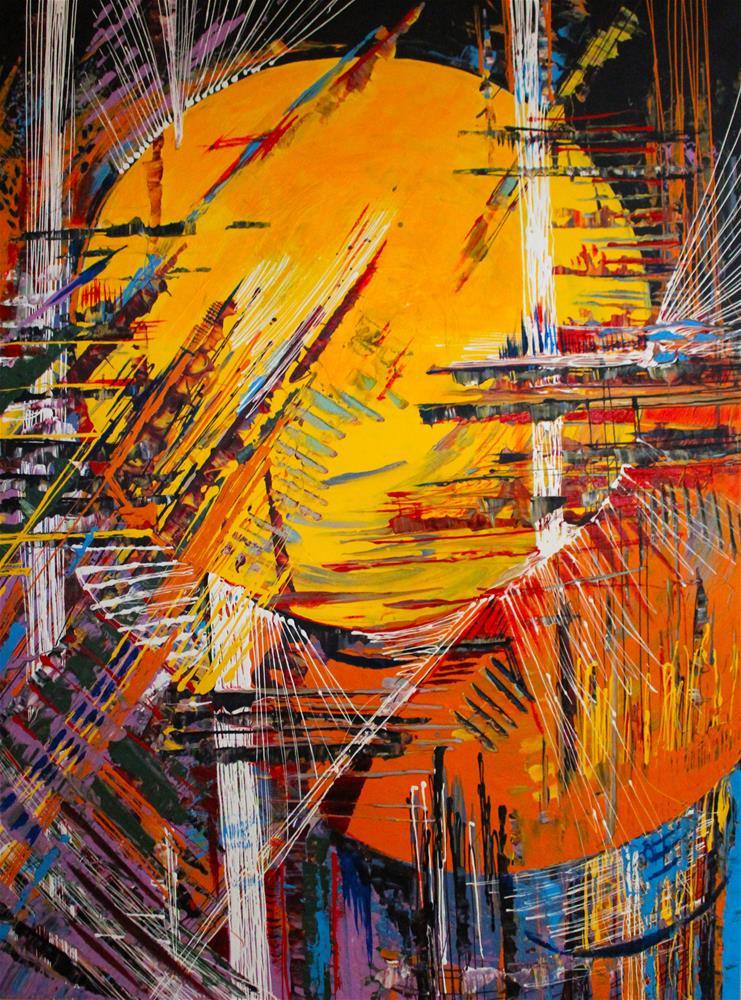 """Native American Sun"" original fine art by Khrystyna Kozyuk"