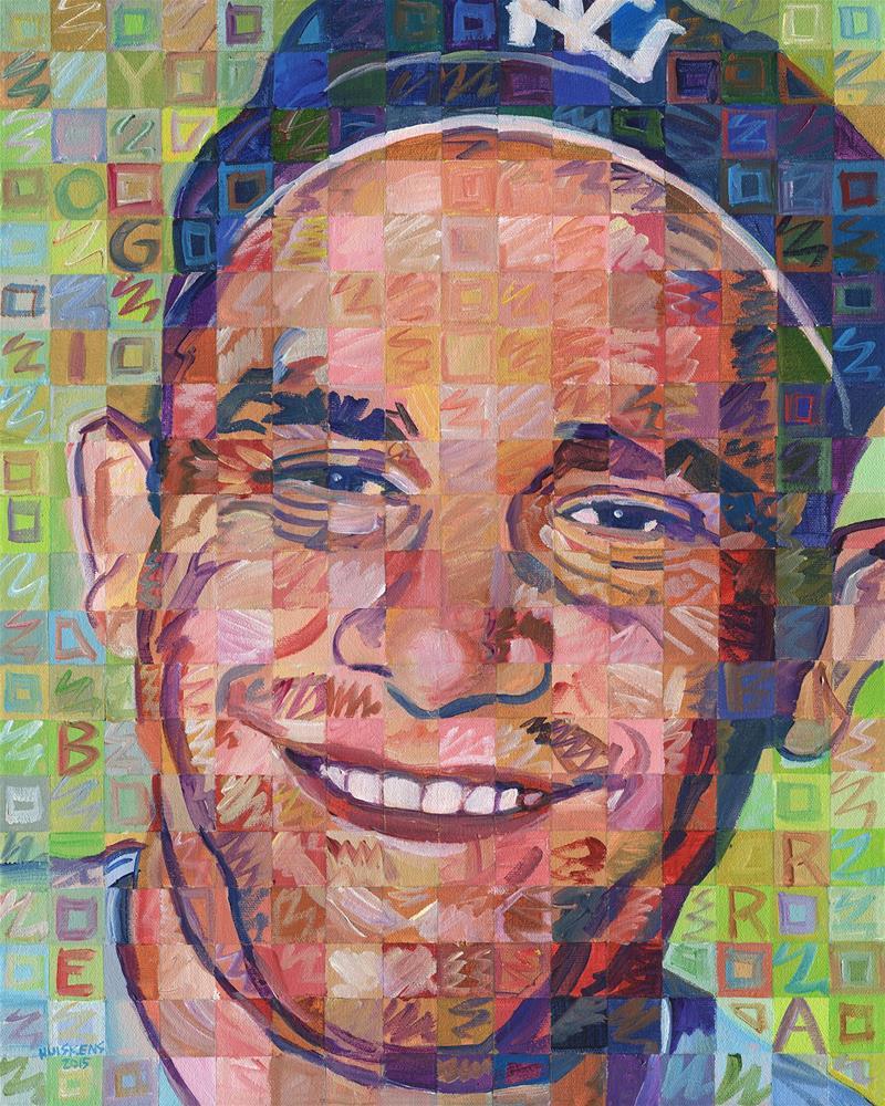 """Yogi Berra"" original fine art by Randal Huiskens"