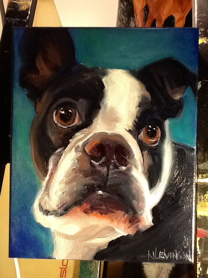 """Custom portrait of Bardy"" original fine art by Nancy Levinson"