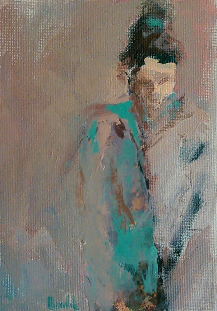"""""""Contemplation in Mist"""" original fine art by Ann Rudd"""