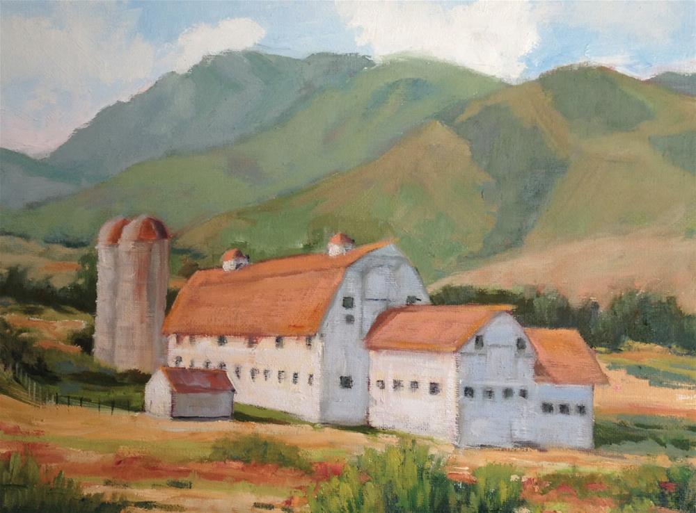 """Park City Barn"" original fine art by Deborah Newman"